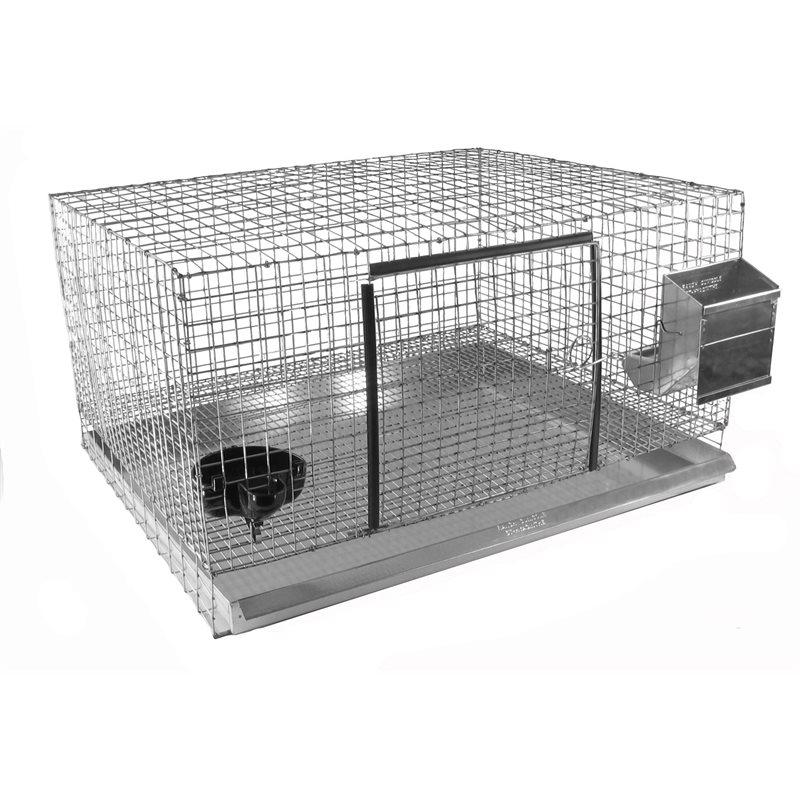 Cages avec côtés en grillage
