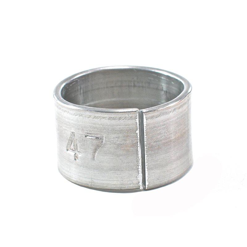 Bagues numérotées en aluminium