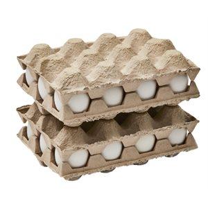 Plateau d'emballage 12 oeufs
