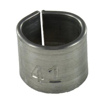 Bague en aluminium no. ¼ po.