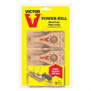 Trappe à souris Power-Kill (Paquet de 3)