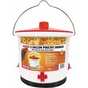 Abreuvoir chauffant à tétines 2 gallons (7,5 litres)
